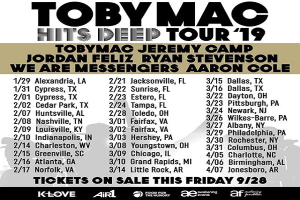"TOBYMAC's ""Hits Deep Tour"" is back."