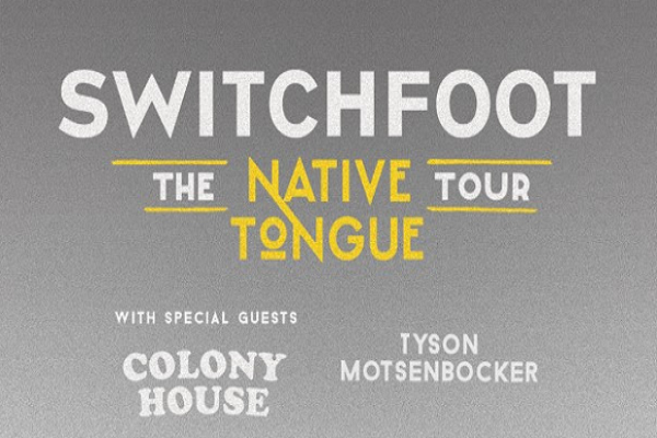 Switchfoot's Native Tongue tour kicks off very soon.